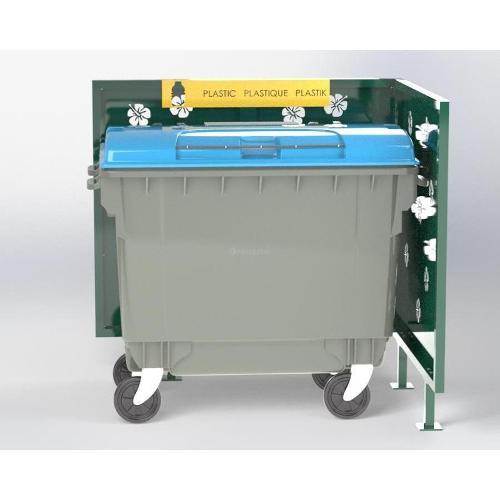 Cache Poubelle Conteneur Hibiscus En L Recyclage Plastique
