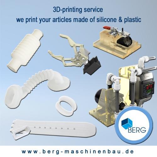 Services d'impression 3D en silicone & plastique