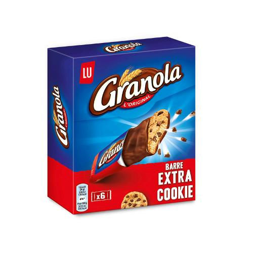 Barres Granola extra cookie 168g - LU