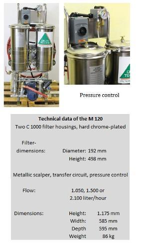 Mobile ultra fine filter system M 120