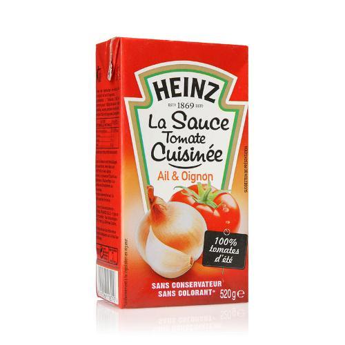 Sauce tomate cuisiné ail/oignon 520g - HEINZ
