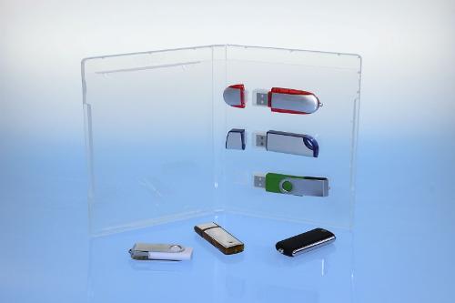 BluRay Box - für 3 USB-Stick's - transparent -
