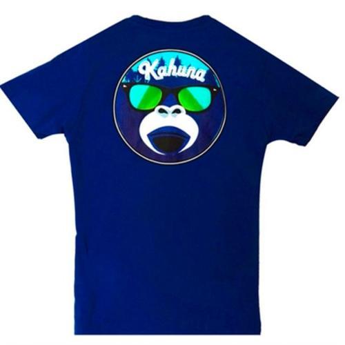 Camiseta azul Monkey face