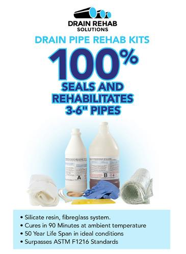 Drain Pipe Rehab kit