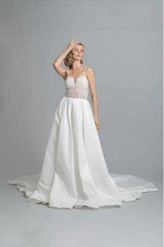 sheath weddingdress