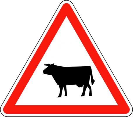 Panneau A15a/b Passage D'animaux Domestiques