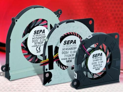Slimline radial fans for embedded systems