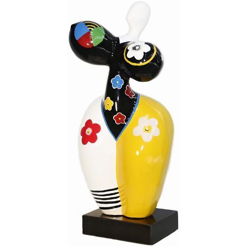 Statue sculpture FEMME POP ART en résine H61 cm