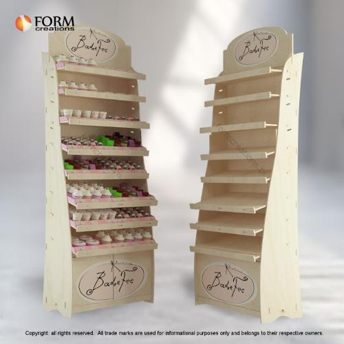 Wooden promotional stand