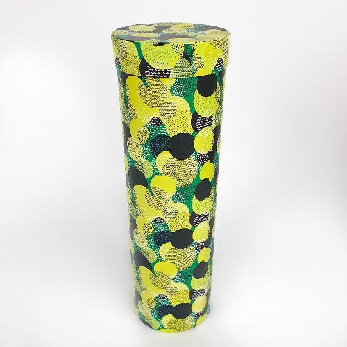 Подарочная коробка (тубус под бутылку) васаби 9,2х9,2х32см