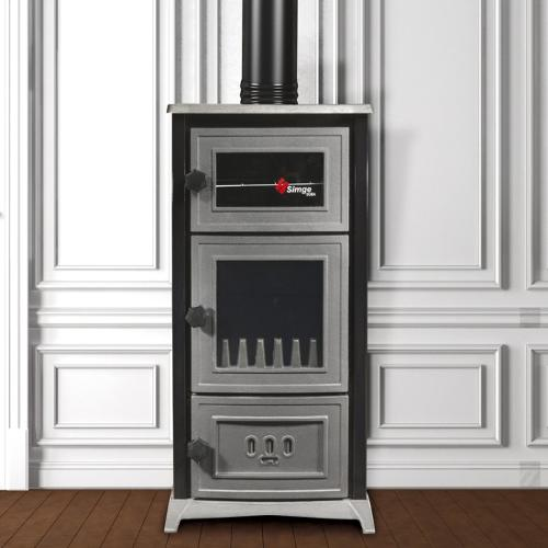 Fireplace with oven