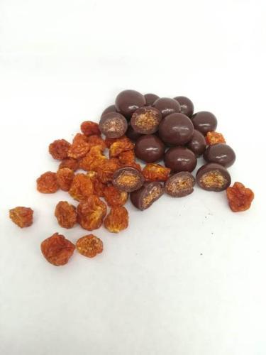 chocolate coated fruit