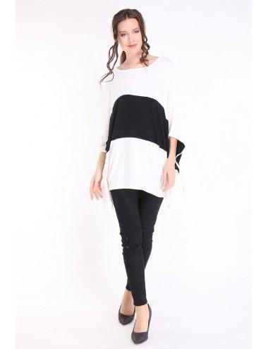 Pack 6x Tee-shirt femme TAPAULA noir/blanc