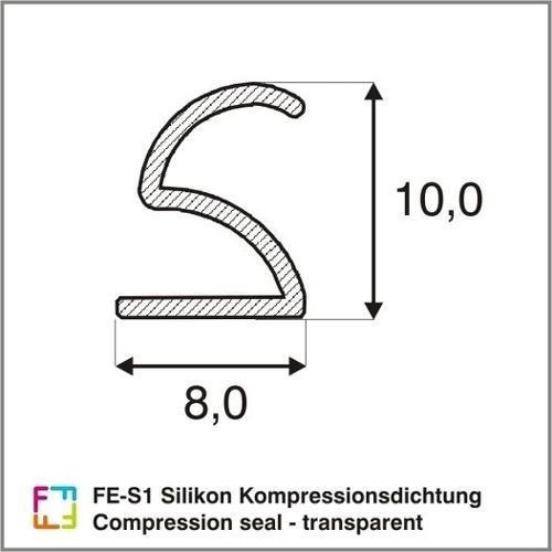 FE-S1 Silikon Kompressionsdichtung / Compression seal