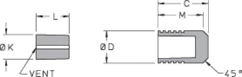 Ø 406 Stainless Steel Lee Plug® - Short Style