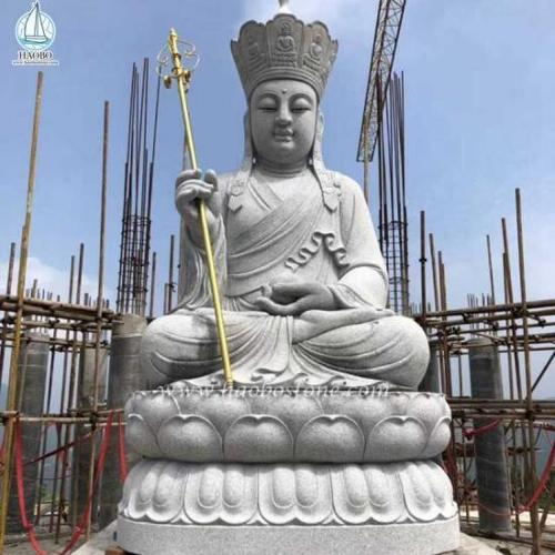 Natural Stone Granite Temple Buddha Carved Buddha Statue