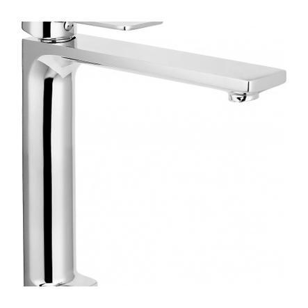 Miscelatore monocomando lavabo alto con scarico CLICK-CLACK.