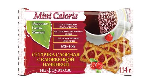 Puff Pastry With Cranberry Filling With Fructose Mini Calorie 114 G