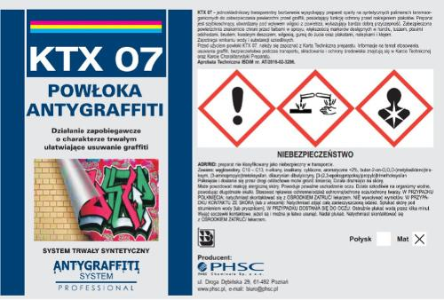 KTX 07 - Powłoka Antygraffiti system trwały