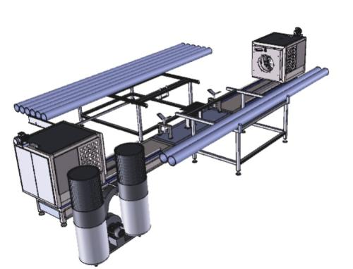 PVC Pipe Threading And Slotting Machine