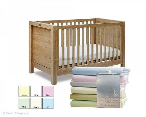 Cotton Cot-Bed Sheets - Fitted - 2 Pack