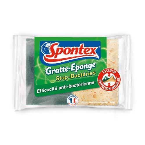 Eponges grattantes antibactérienne x2 - SPONTEX