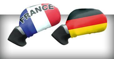 WM & EM Autospiegel Flaggen