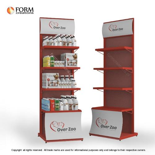 Display stand for dog cosmetics