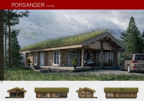 Prefabricated wooden house PORSANGER