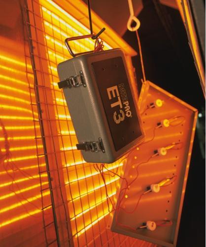 DATAPAQ EasyTrack3 Temperaturprofile für Pulverbeschichtung
