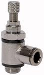 Throttle check valve,Supply air throttle,push-in...