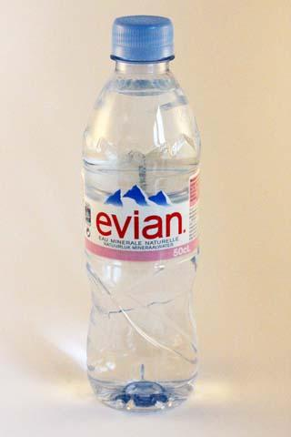 EVIAN Mineral water 50 cl in plastic bottle