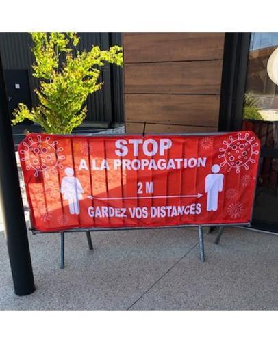 Banderole Message De Sécurité - Cache Barrière De Police