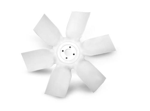 One-piece molded fan