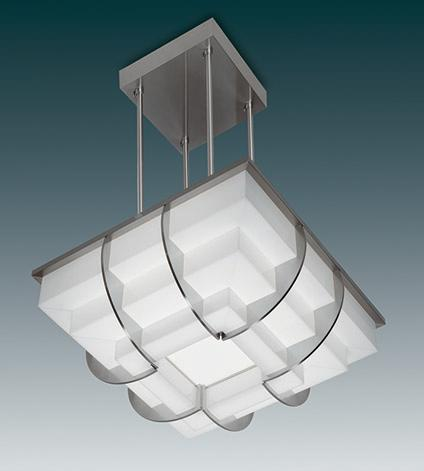 Glass art deco pendant lighting