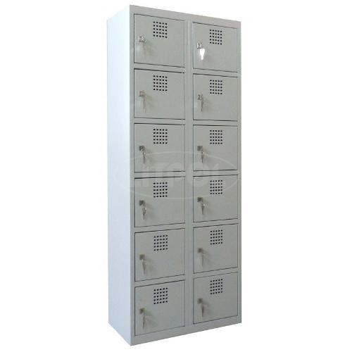 Металлический шкаф (локер) для магазинов ячеечный на 12 отде