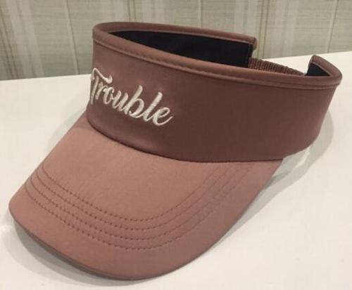 dusty pink satin peak cap