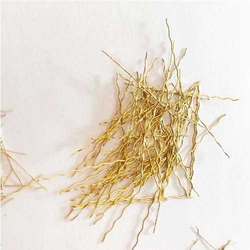Serie de fibras de acero micro recubiertas de cobre UHPC
