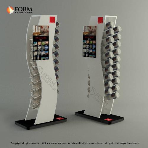Display rack for tubes