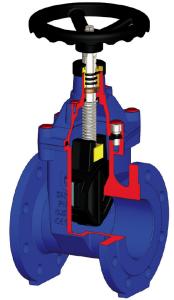 Vanne opercule caoutchouc modèle VS.40