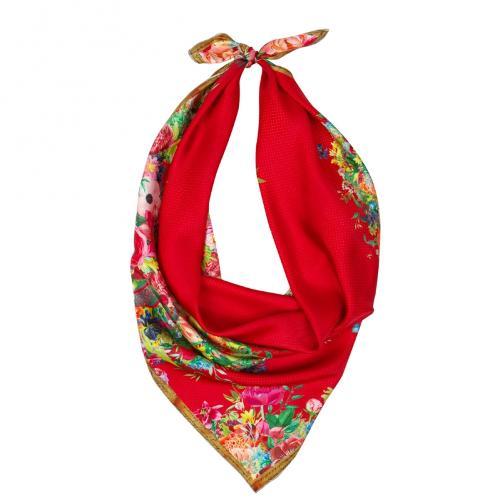 Pure silk twill square scarf