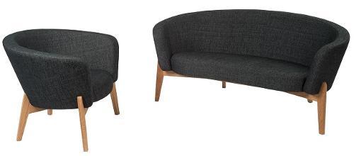 Curve sofa and armchair