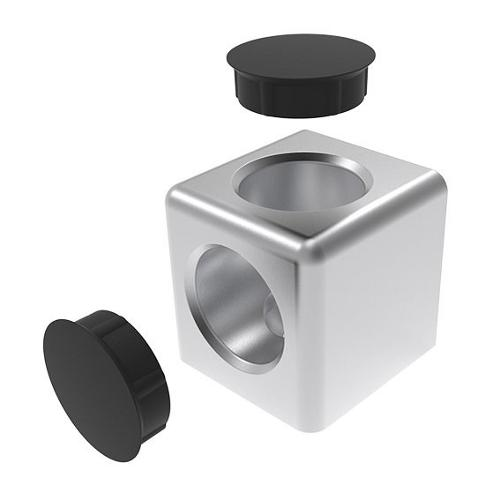 Cube connectors (Set) 2D or 3D for profilemounting