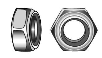 Prevailing torque type hexagon nuts with nonmetallic...
