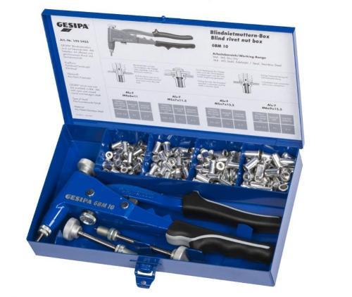 Blind rivet nut box (Blind rivet nut hand tools)