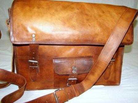 Leather Office Messenger Bag