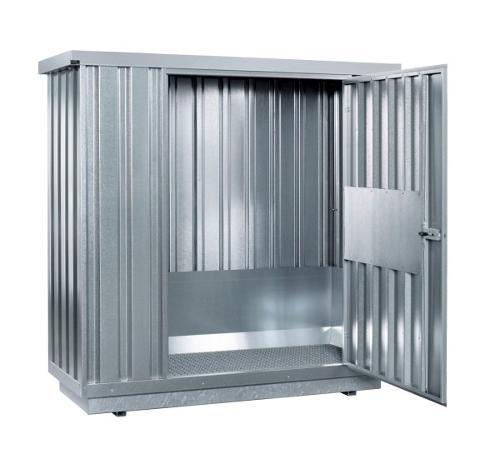 Gefahrstoffcontainer SRC 1.1W verzinkt mit 1-flügeliger Tür