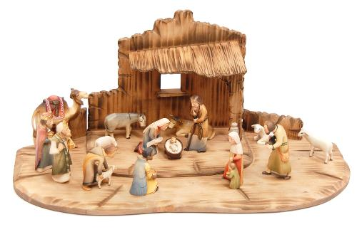 WOODEN STABLES FOR NATIVITY SETS