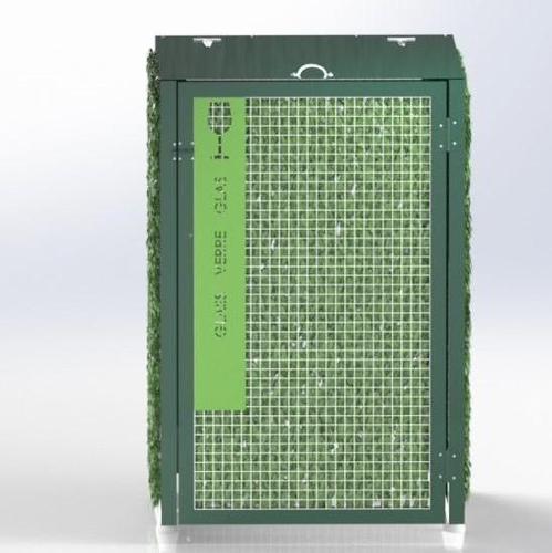 Abri Cache Poubelle Verdoyant Recyclage Verre