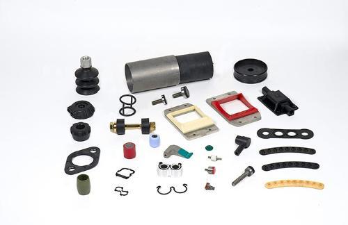 Particolari co-stampati in gomma-metallo o plastici